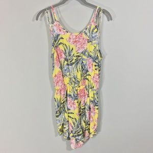 Leith Floral Tropical Double Strap Romper S